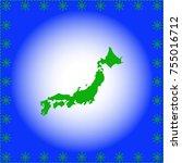 map of japan | Shutterstock .eps vector #755016712