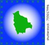 map of bolivia | Shutterstock .eps vector #755017996
