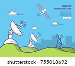 communication parabolic... | Shutterstock .eps vector #755018692
