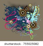 retro abstract background. | Shutterstock . vector #755025082