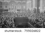 crowd gathered at pennsylvania... | Shutterstock . vector #755026822
