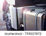 truck fuel tank background | Shutterstock . vector #755027872