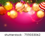 christmas. christmas background. | Shutterstock .eps vector #755033062