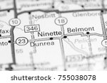 Small photo of Ninette. Canada on a map.