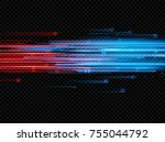 illuminated abstract digital... | Shutterstock .eps vector #755044792