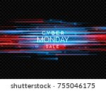 cyber monday. promotional... | Shutterstock .eps vector #755046175