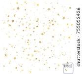 gold stars. confetti... | Shutterstock .eps vector #755053426