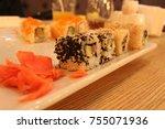 rolls  japanese food | Shutterstock . vector #755071936