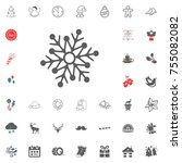 snowflake icon. merry christmas ...   Shutterstock .eps vector #755082082