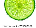 Lime With Bubbles In Water...