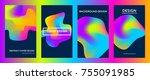 liquid gradient color covers...   Shutterstock .eps vector #755091985