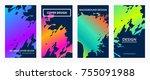 liquid gradient color covers... | Shutterstock .eps vector #755091988