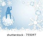 christmas background   vector | Shutterstock .eps vector #755097