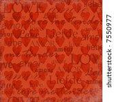 grunge valentine background | Shutterstock . vector #7550977
