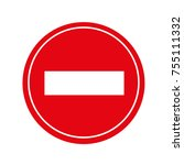 road sign street sign | Shutterstock .eps vector #755111332