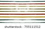 retro seamless watercolor... | Shutterstock .eps vector #755111512