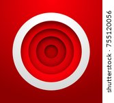 red circle background with layer   Shutterstock .eps vector #755120056