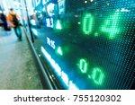stock market in the city | Shutterstock . vector #755120302