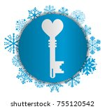 key to love christmas icon | Shutterstock .eps vector #755120542
