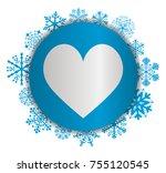 love christmas icon | Shutterstock .eps vector #755120545