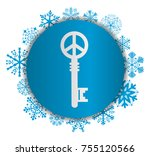 key to peace christmas icon | Shutterstock .eps vector #755120566