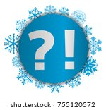 interrogation and exclamation... | Shutterstock .eps vector #755120572