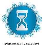 hourglass christmas icon | Shutterstock .eps vector #755120596