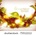 abstract colorful flovers... | Shutterstock .eps vector #75512212