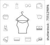 woman blouse hanging icon. set... | Shutterstock .eps vector #755129896