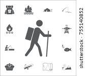 hiking icon illustration...