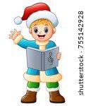 Happy Boy Singing Christmas...
