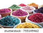 piles of vibrant  colourful... | Shutterstock . vector #755149462