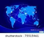 vector illustration world map.... | Shutterstock .eps vector #75515461