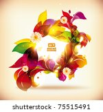 abstract colorful flovers... | Shutterstock .eps vector #75515491
