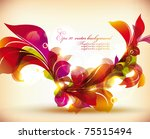 abstract colorful flovers... | Shutterstock .eps vector #75515494