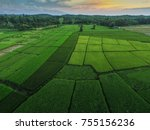 top view of green field for... | Shutterstock . vector #755156236