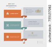 infographics design template... | Shutterstock .eps vector #755157082