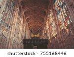 october 23  2017  cambridge ... | Shutterstock . vector #755168446