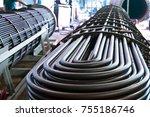 u shaped tube bundle | Shutterstock . vector #755186746