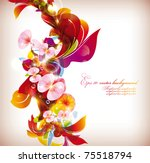 abstract colorful flovers... | Shutterstock .eps vector #75518794