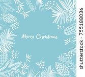 christmas background with... | Shutterstock .eps vector #755188036