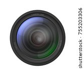 realistic detailed 3d camera... | Shutterstock .eps vector #755203306