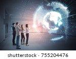 group of people watching...   Shutterstock . vector #755204476
