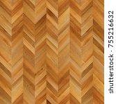fragment of parquet floor.  | Shutterstock . vector #755216632