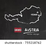 austria map  vector drawing on... | Shutterstock .eps vector #755218762