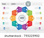 web template for circle diagram ... | Shutterstock .eps vector #755225902