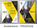 business brochure. flyer design.... | Shutterstock .eps vector #755229226