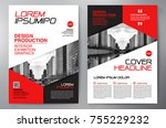 business brochure. flyer design.... | Shutterstock .eps vector #755229232