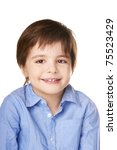 cute smiling happy little boy... | Shutterstock . vector #75523429