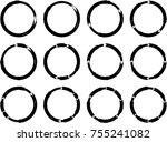 vector frames. circle for image.... | Shutterstock .eps vector #755241082